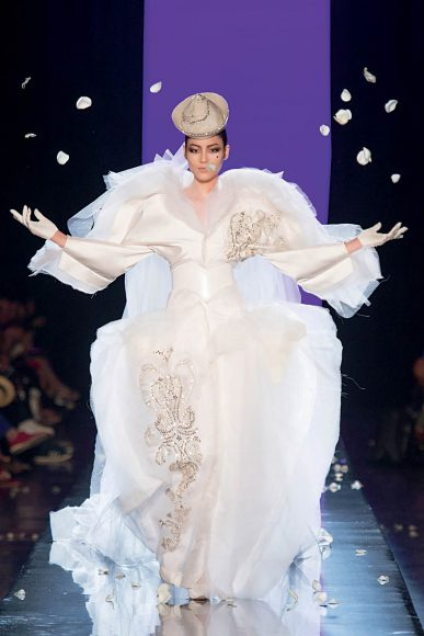 """Jean Paul Gaultier (born in 1952), Ashes to Ashes collection, '""""La Mariée"""" gown, haute couture fall/winter 2013-2014. Photo © Patrice Stable/Jean Paul Gaultier"""