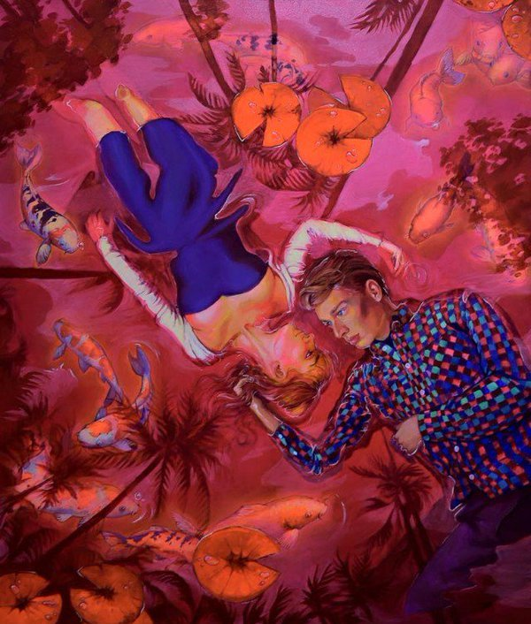 Natalia-rak-Lovers in red pond